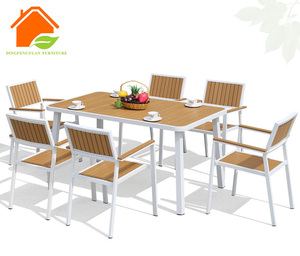 Popular Outside Poly Wood Aluminum Table And Chair
