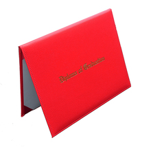 PU Leather 대학원 Certificate 홀더 졸업장 Cover With Custom Logo