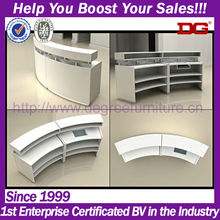 MDF wooden cosmetic retail store merchandising display fixture