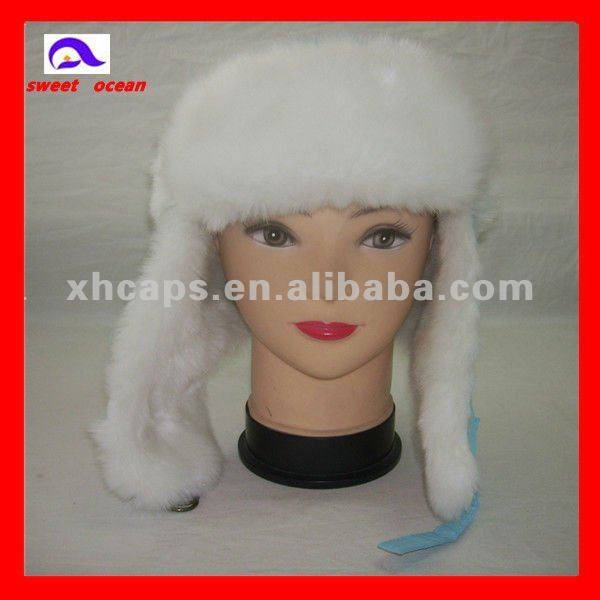 2013 win the future honney 100% wool fleece earflap hat