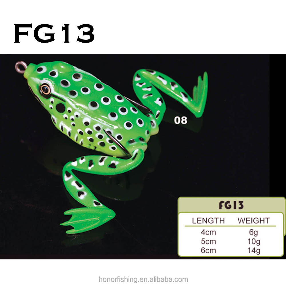 Factory price 5CM 10G Topwater Pesca Fishing soft frog lure