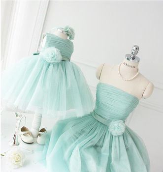 fa299f5fef Lovely mom and daughter latest dress designs royalblue girls party dresses  ruffled lace trim long frocks