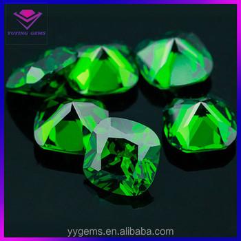 Aaa Cushion Cut Cz Gems Emerald Green Diamond Price Per Carat For ...
