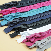 low price plastic long chain eco-friendly fabric resin zipper roll zip for clothing bags auto lock zipper for coat