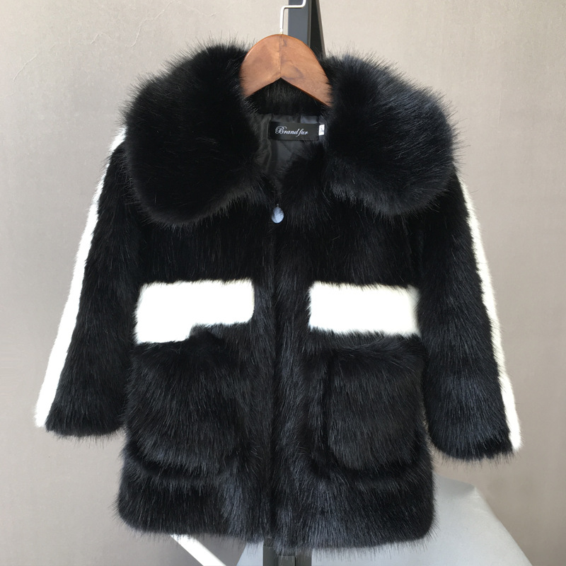 Solid Color Children Clothing Girl Tops Big Girls Winter Coat With Fur Collar Winter Parka Children Large Fur Hooded Down Jacket Packing Of Nominated Brand Outerwear & Coats