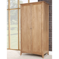 UK classic style solid wood oak wardrobe for home bedroom furniture