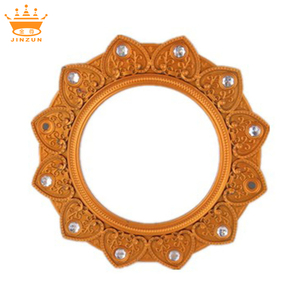 High Quality gold cheap plastic round acrylic photo frame