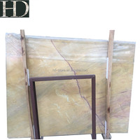 Hot Sale Gold Yellow Marble Slabs flooring design stone For Sale