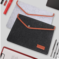 Custom printing felt A4 paper bag fabric file folder for documents and envelopes