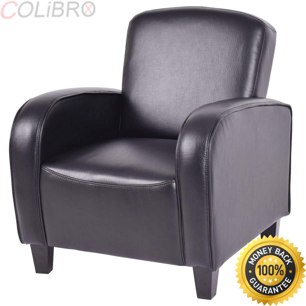COLIBROX--Modern Accent Arm Chair Single Sofa Seat Leisure Living Room Furniture Black. modern lounge chairs. modern accent arm chairs clearance. lounge chairs for bedroom.modern leather accent chair.