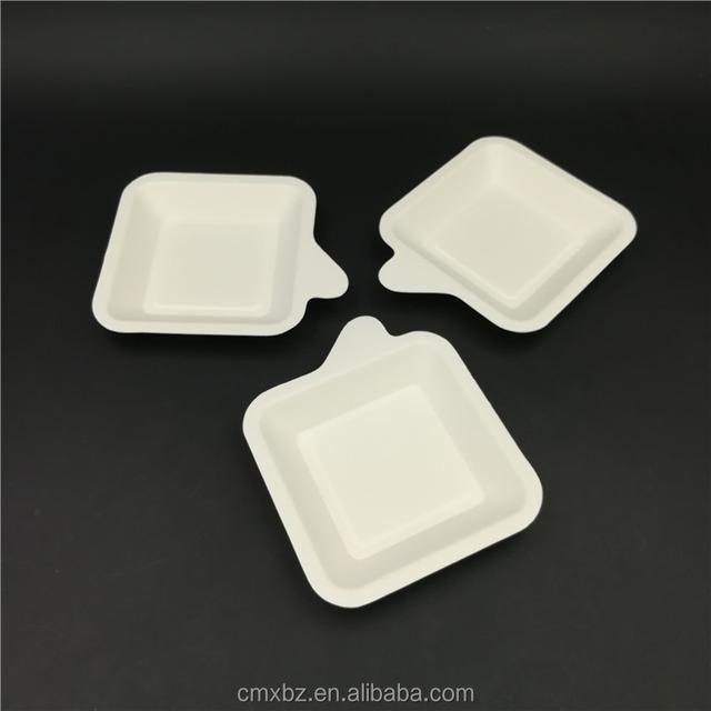 Handle design small white square plates disposable party paper dish & square small paper plates-Source quality square small paper plates ...