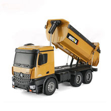 Huina pelle 1573 2.4GHz 10 canaux 1:14 <span class=keywords><strong>RC</strong></span> camion benne basculante Auto-décharge métal Auto démonstration LED lumière <span class=keywords><strong>RC</strong></span> <span class=keywords><strong>jouets</strong></span>