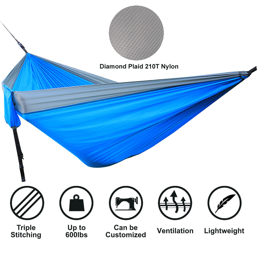 Lighten Up 210T Nylon Double Person Outdoor & Indoor Hammock Chair