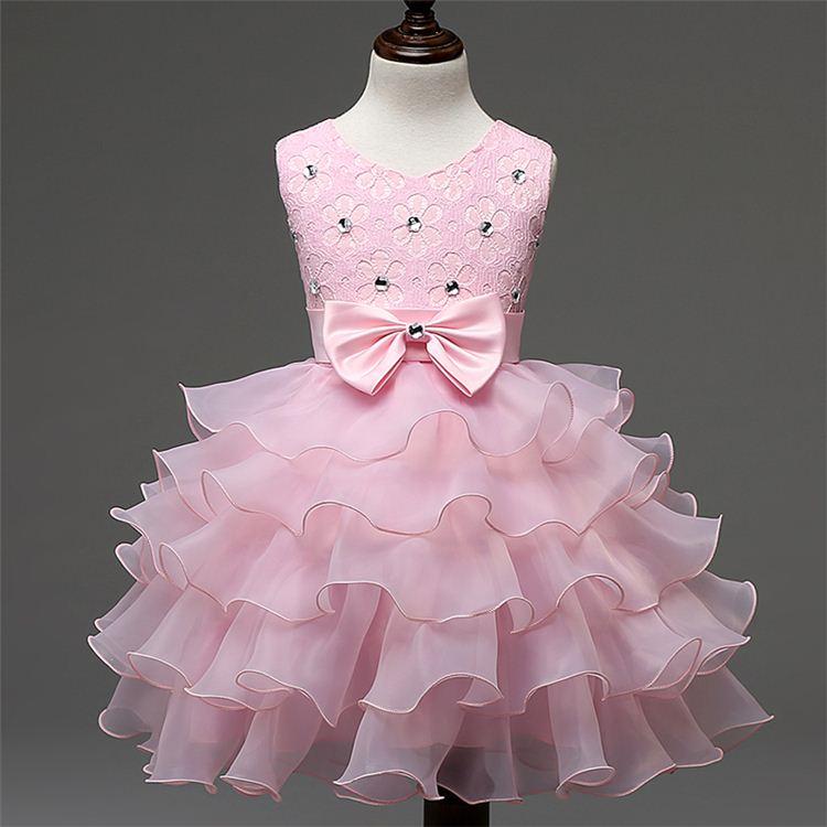 2016 Nueva princesa vestido para niñas fiesta de boda flores niñas 3 ...