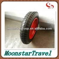 wheelbarrow/barrow pneumatic rubber wheel with metal rim
