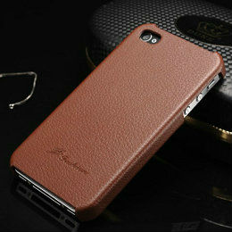 Litchi Leather case for <strong>iPhone</strong> 4s 4 Leather back cover for <strong>iPhone</strong> 4s <strong>4g</strong> with faddist logo New arrival high quality phone case