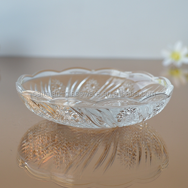 Glass cup and saucer small glass plate glass saucer