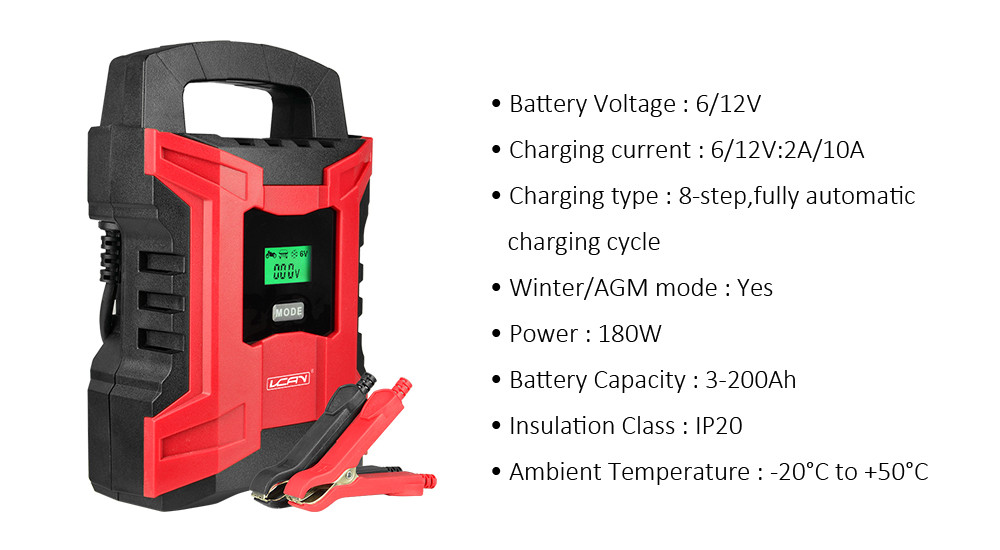 Power bank 8-Steps charging type industrial 12v car auto battery charger