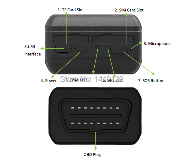 original tc68 car obd2 gps tracker locator with obd code. Black Bedroom Furniture Sets. Home Design Ideas