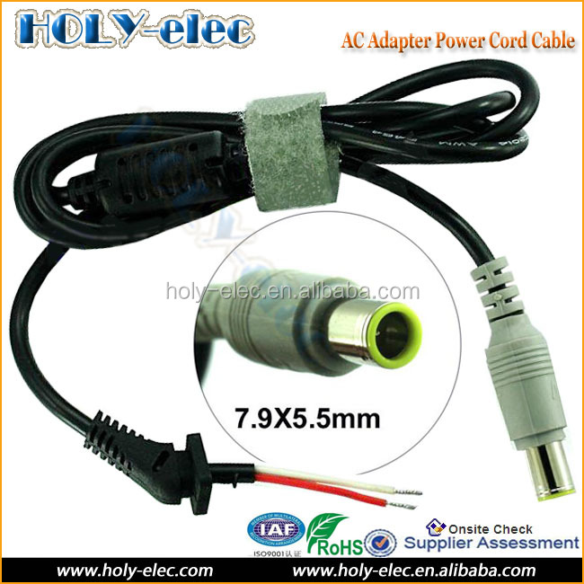 Laptop Ac Adapter Charger Dc Tip Plug Assembly Connector Cord Cable For  Lenovo Ibm 7 9x5 5mm - Buy Ac Power Adapter Repair Dc Cord Cable,Dc Tip  Plug