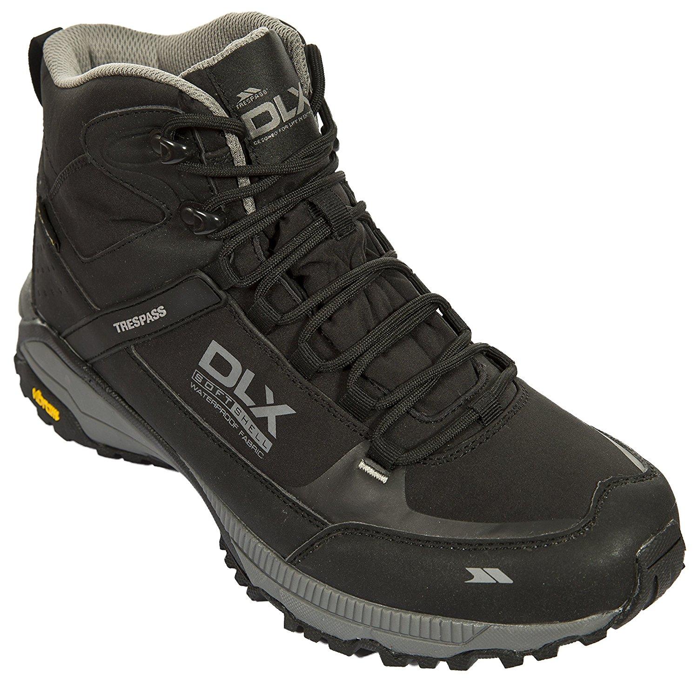 19c4d34be0f Get Quotations · Trespass Renton Mens Walking Boots Lightweight Black Waterproof  Hiking Boots