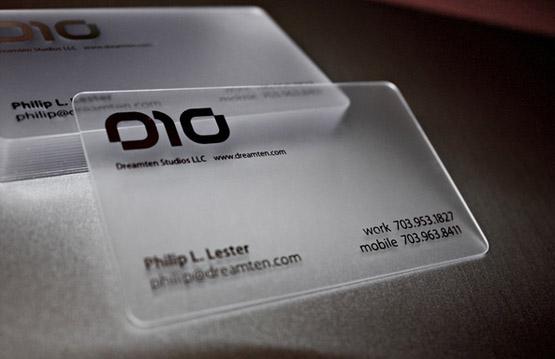 Printing Transparent Business Card, Printing Transparent Business ...
