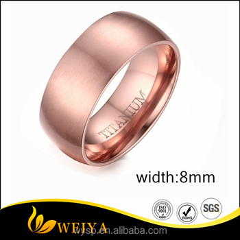 Domed Brushed 18k Rose Gold Plated Tungsten Wedding Band Ring For