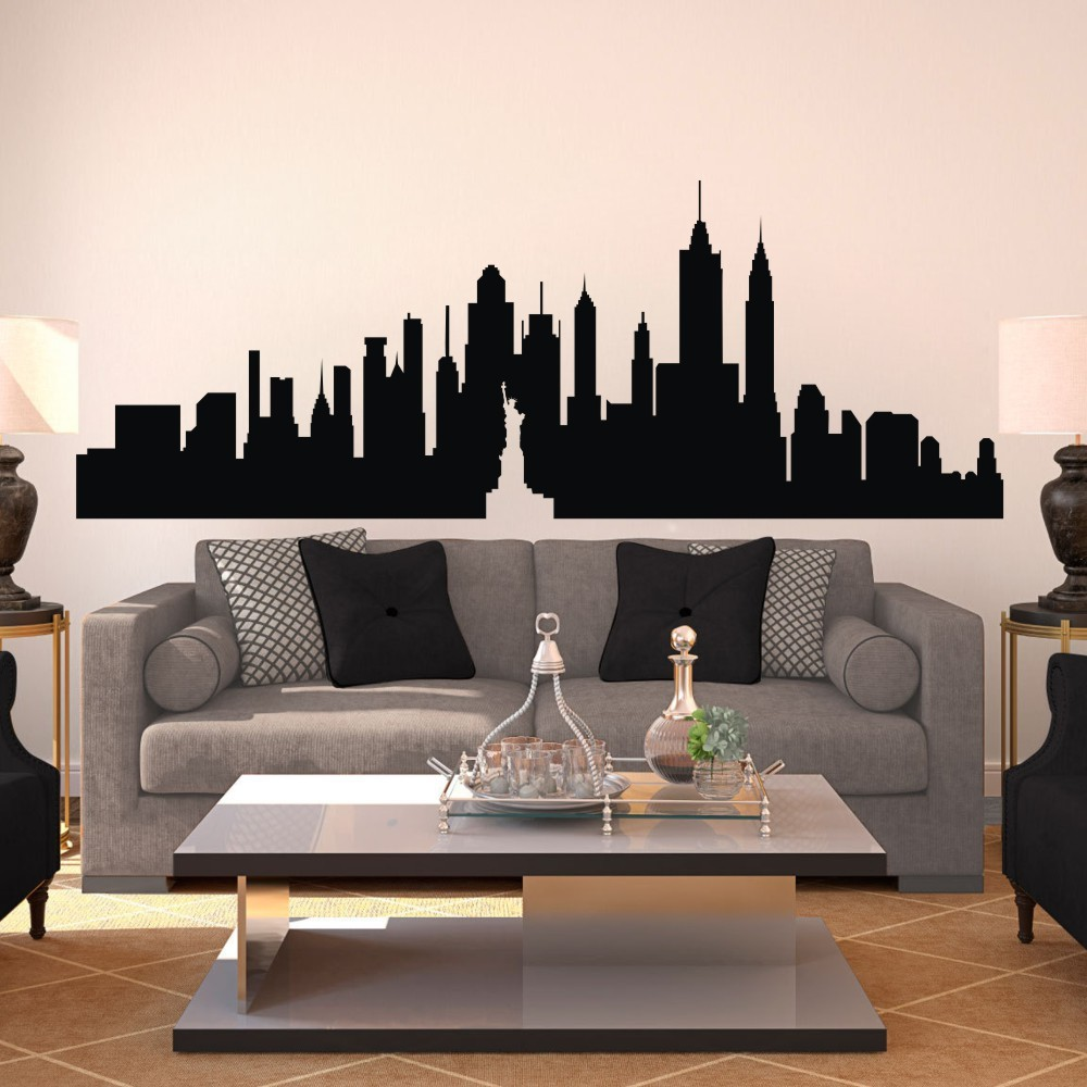 New York City Skyline The Big Apple Wall Sticker Nyc Vinyl