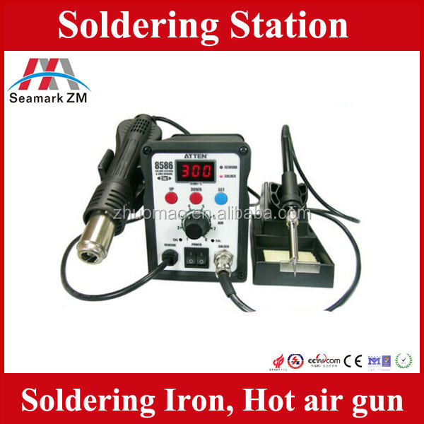 2 in 1 soldering station with hot air