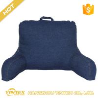 Ultra Soft Brushed Plush Velvet alternative fabric shredded foam custom bed rest pillow wholesale cheap reading pillow