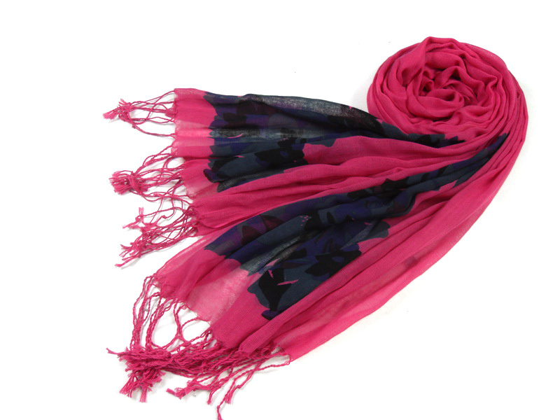 New Design Digital Printed 100 Cotton Ladies' Scarf From Yiwu Factory