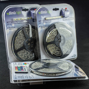 Retailer Blister Packing IP20 IP65 IP68 Non Waterproof Warm White Multi color SMD5050 300D 5m RGB Led Strip Set