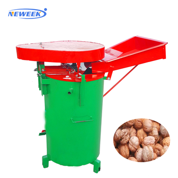 NEWEEK vertical with cleaning function green skin removing walnut hulling machine for sale