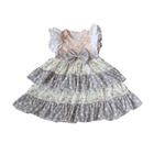 Children Boutique American Baby Dress Modern Girl Party Dress Ruffle Flutter Sleeves Frocks For Girl