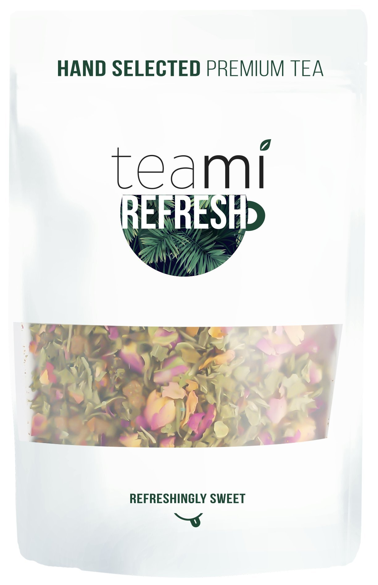 STRAWBERRY MANGO MINT TROPICAL TEA w/100% Real Fruit - Refresh by Teami Blends - Cooling, Improve Digestion, Reduce Stomach Bloating, Burn Fat, Anti-Aging Properties, Promote Bone Health