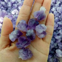 Beautiful natural small sized quartz amethyst crystal cluster for decoration