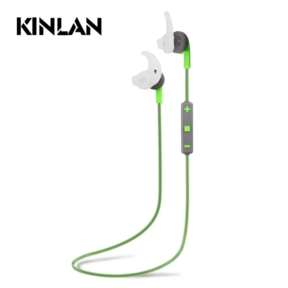Kinlan Amazing Sound Wireless headset earphone Anti-slip Soft Earbuds for Outdoor Sports