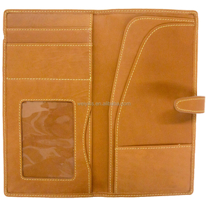 Factory Direct Supply High Quality PU Leather Passport Holder, Wholesale Faux Leather Travel Wallet for Passport & Tickets