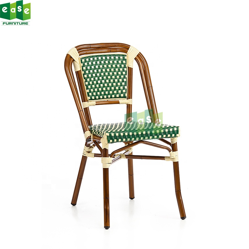 French Restaurant Furniture Bamboo Style Stackable Rattan