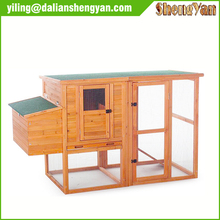 Wood chicken coop with galvanized iron wire netting mesh