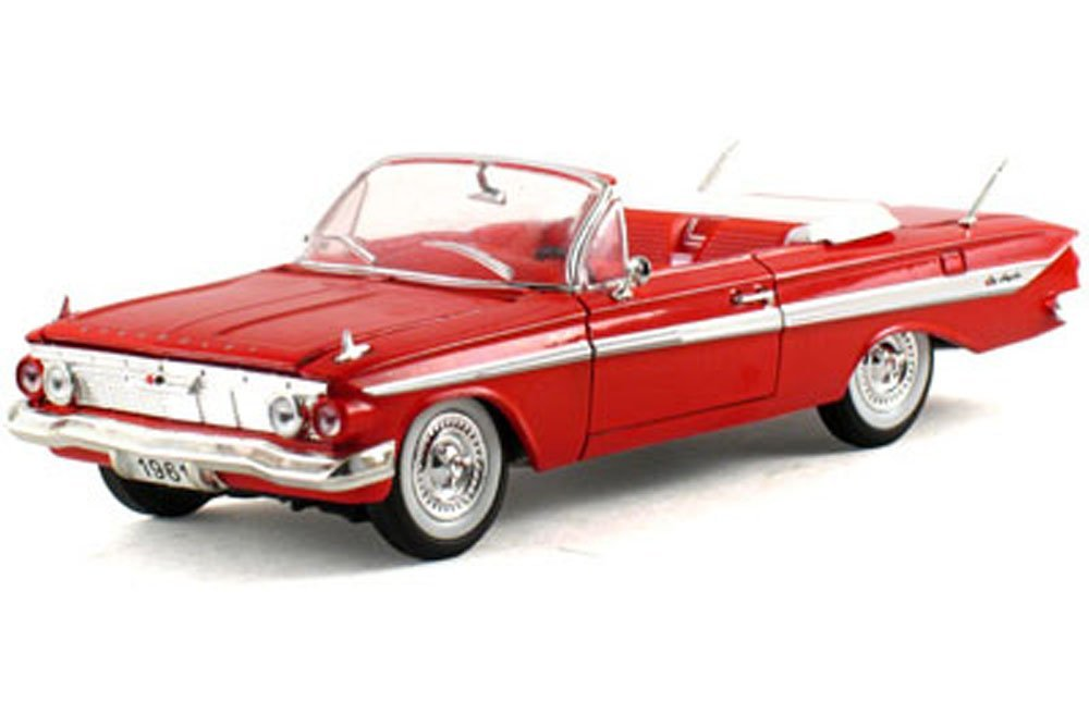 1961 Chevy Impala Convertible, Red- Signature Models 32431 - 1/32 Scale Diecast Model Toy Car