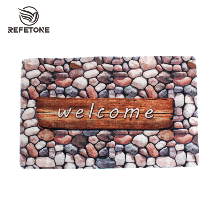 Custom print polypropylene anti slip bathroom mat carpet, door mats bathroom mat living room