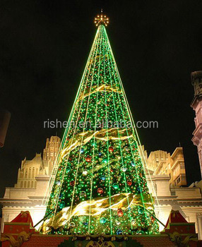wholesale big christmas tree lighting for church decoration large xmas christmas tree light blue light xmas - Big Indoor Christmas Decorations