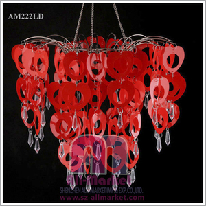 China handmade plastic material red lampshades