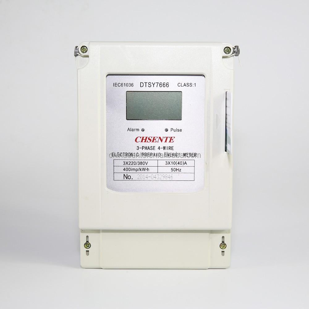 Wholesale DTSY7666 Smart Three Phase Energy Meter Prepaid ...