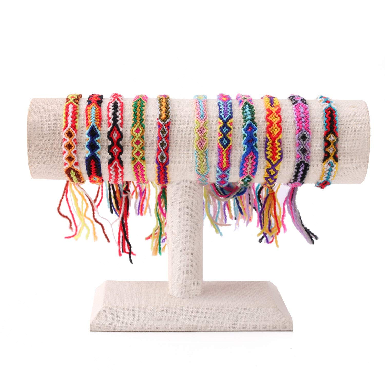 KELITCH Handmade Wrap Bracelets Bangles Candy Wide Tassels Friendship Bracelet 10 PCS