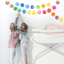 DIY Dots children room wall stickers simple creative Removable waterproof decal creative wall mural kids' room wall paper
