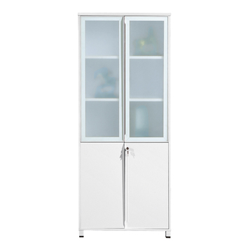 CF 25mm Office White Color Tall File Aluminum Frame Door Lockable High Filing  Cabinets