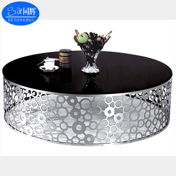 081a Modern Interior Decoration Moroccan Br Tray Fancy Metal Coffee Table