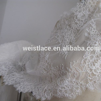 HOT!!!!New Lace Design Embroidered High Quality Tulle Lace Fabric/soft Tulle Lace Fabric/ French Net Lace Tulle Lace For Wedding
